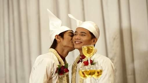 Premier mariage gay symbolique en Birmanie  Lebabi.net Abidjan ...