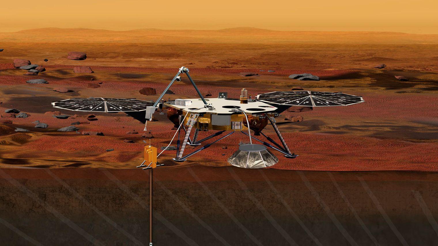 Mars: le robot InSight ne sondera pas le coeur de la ...