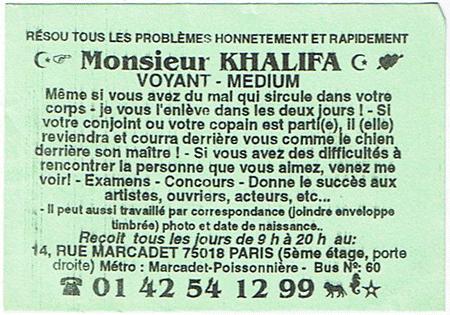 Cartes De Visites Marabouts